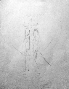 My first sketch of the cover for Shadow and Light