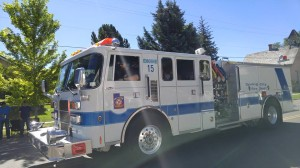 Me driving Engine 15 in the 2015 Spring City Parade.